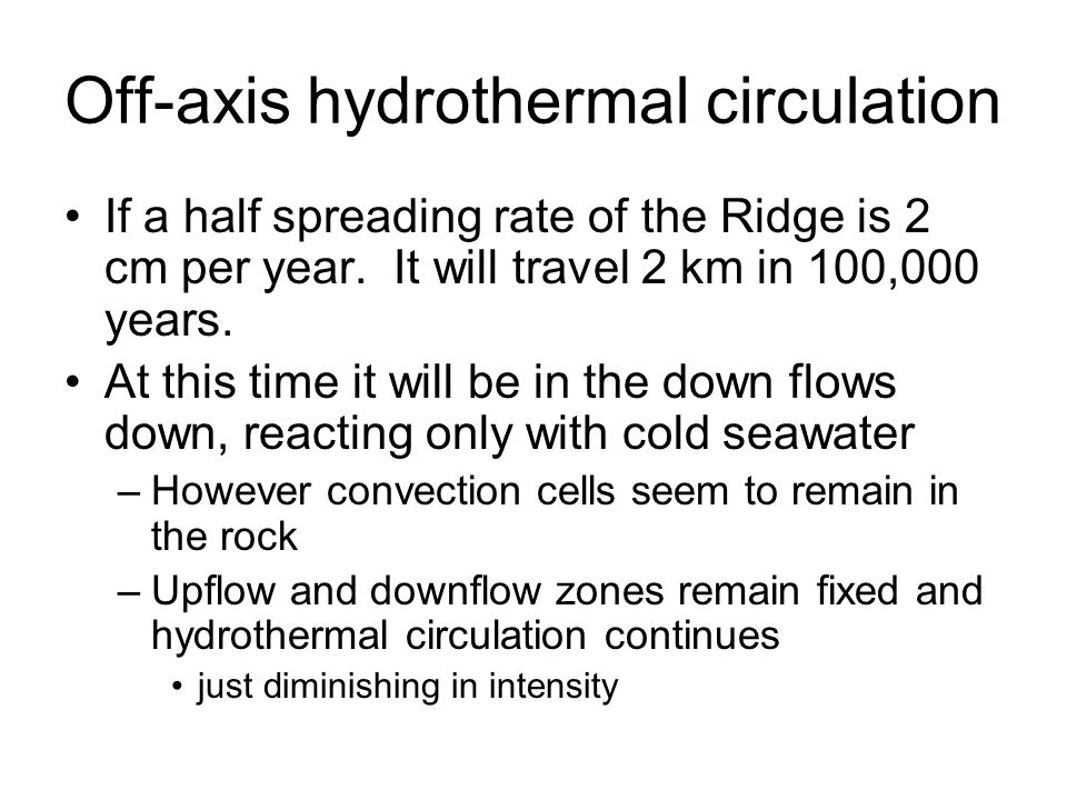 Off-axis hydrothermal circulation
