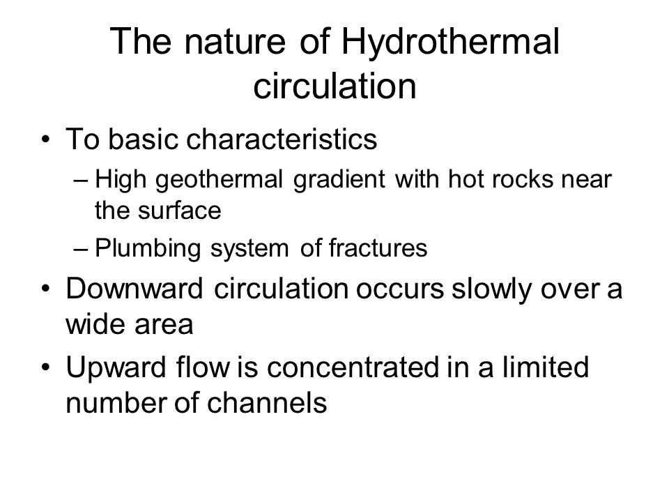 The nature of Hydrothermal circulation