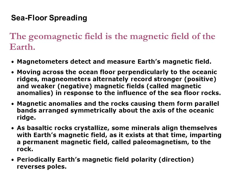 The geomagnetic field is the magnetic field of the Earth.