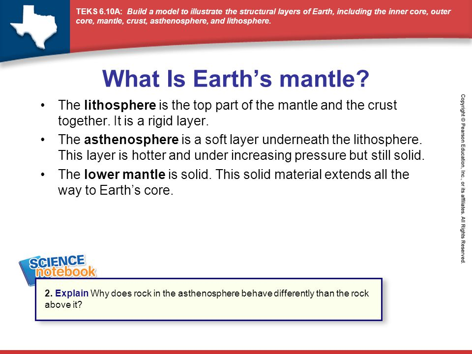 What Is Earth's mantle The lithosphere is the top part of the mantle and the crust together. It is a rigid layer.