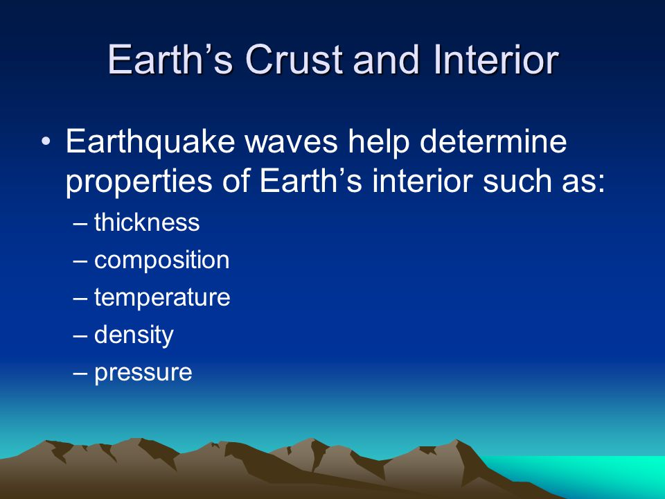 Earth's Crust and Interior