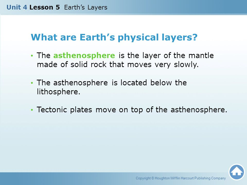 What are Earth's physical layers