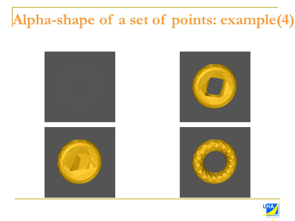 Alpha-shape of a set of points: example(4)