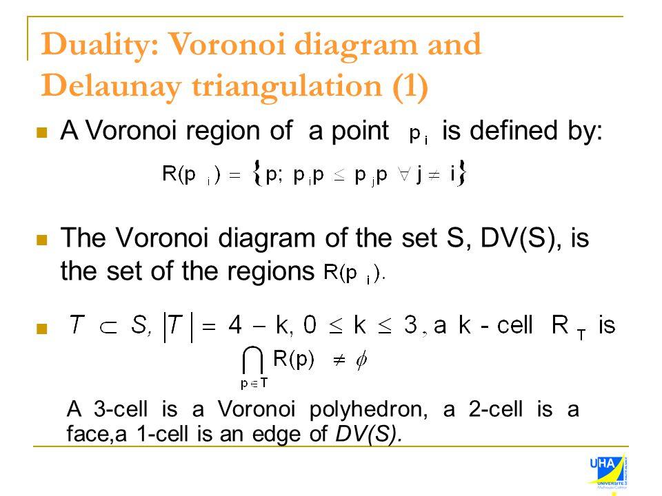 Duality: Voronoi diagram and Delaunay triangulation (1)