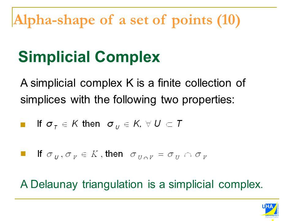 Alpha-shape of a set of points (10)