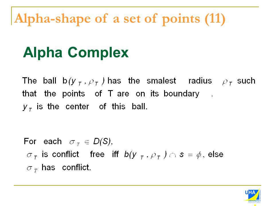 Alpha-shape of a set of points (11)