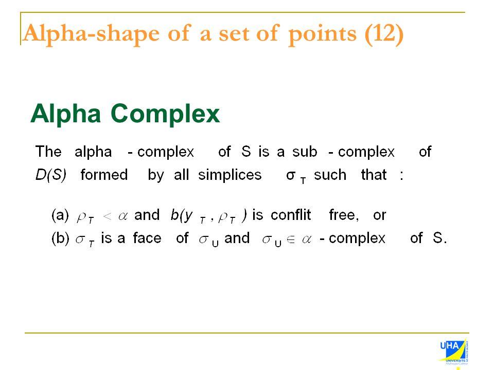 Alpha-shape of a set of points (12)