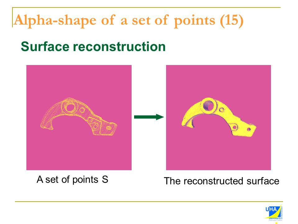 Alpha-shape of a set of points (15)