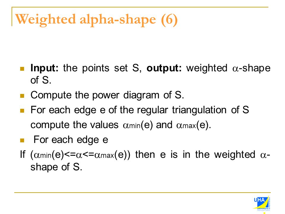 Weighted alpha-shape (6)