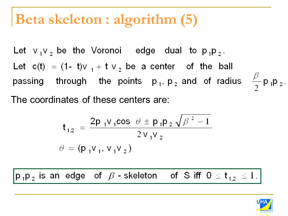 Beta skeleton : algorithm (5)