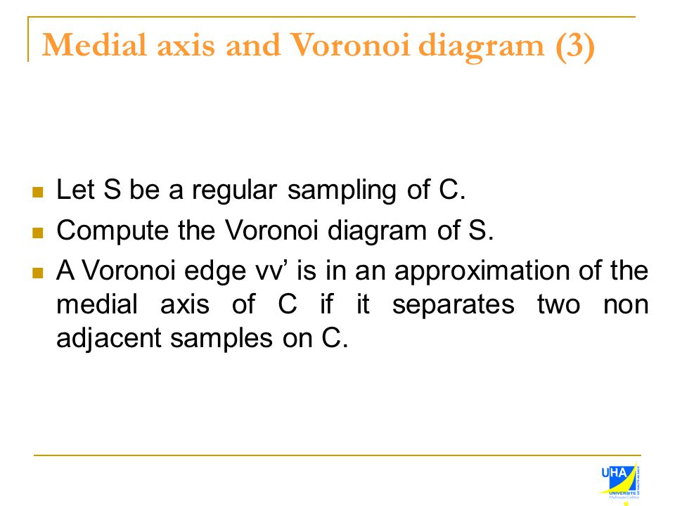 Medial axis and Voronoi diagram (3)