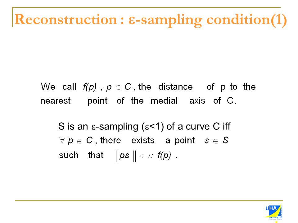 Reconstruction : e-sampling condition(1)