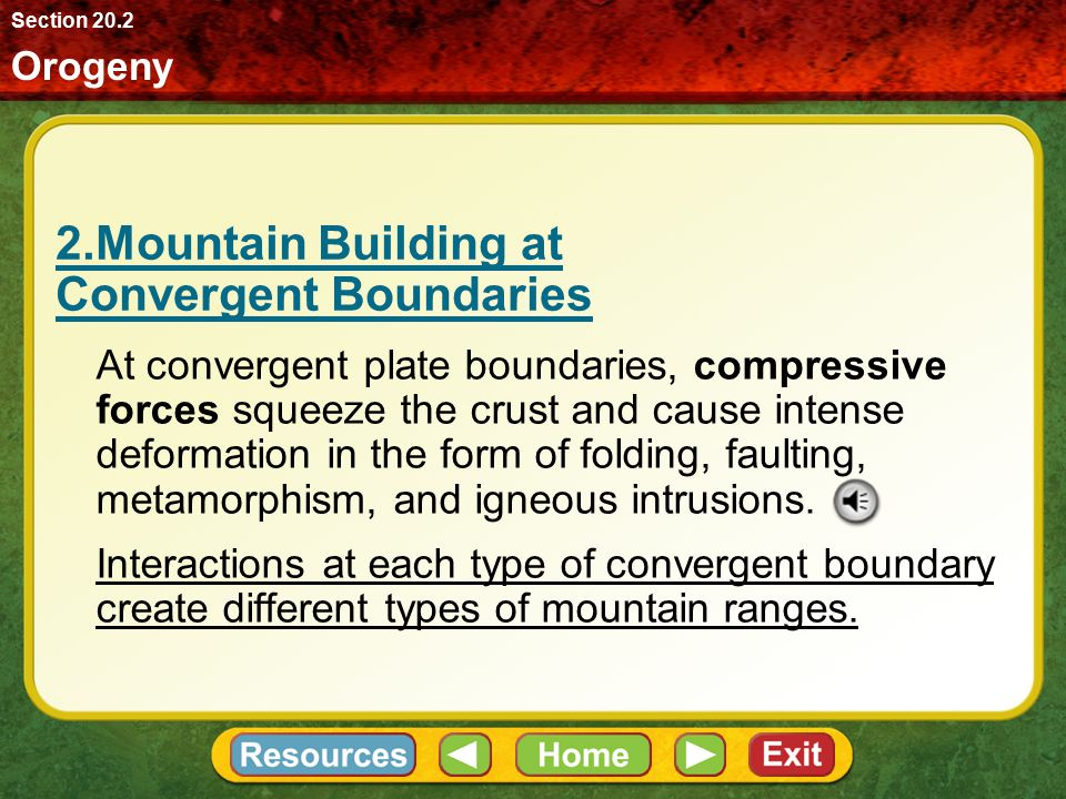 2.Mountain Building at Convergent Boundaries