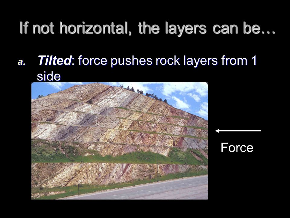 If not horizontal, the layers can be…