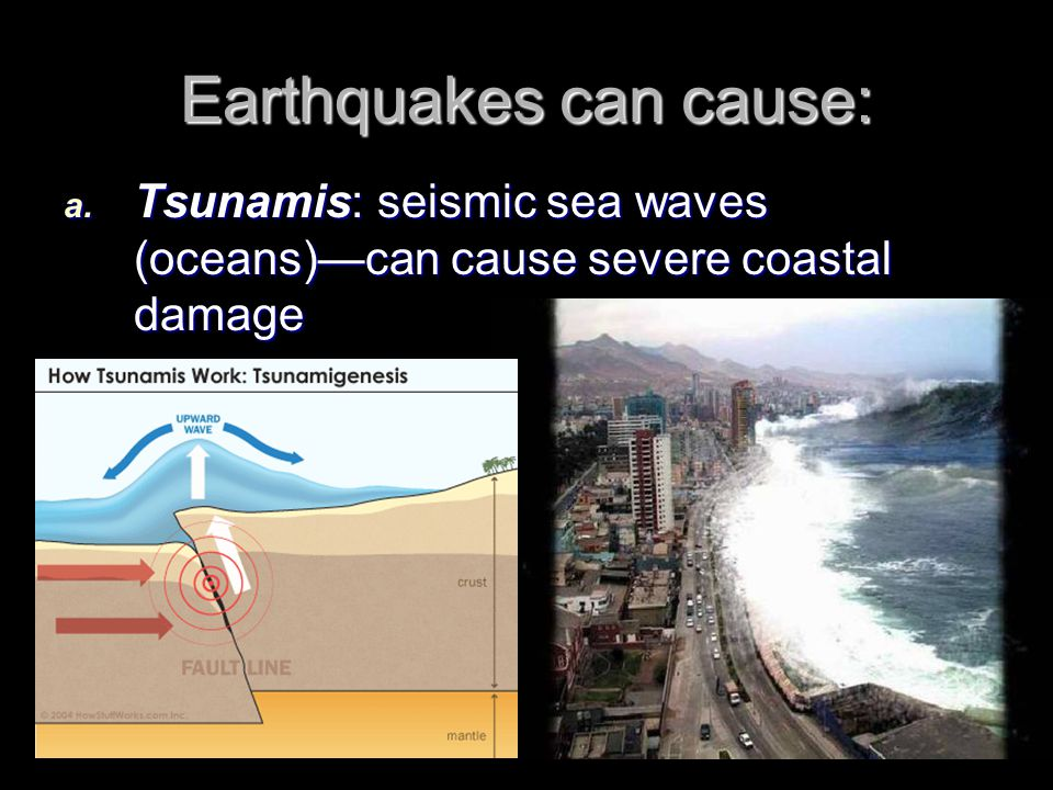 Earthquakes can cause: