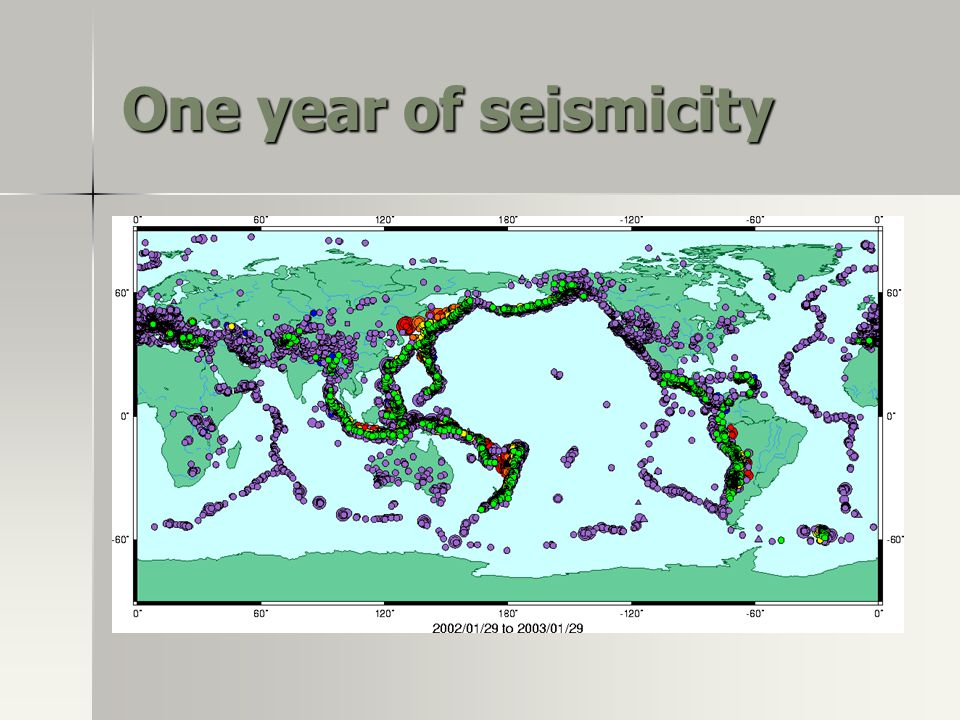 One year of seismicity