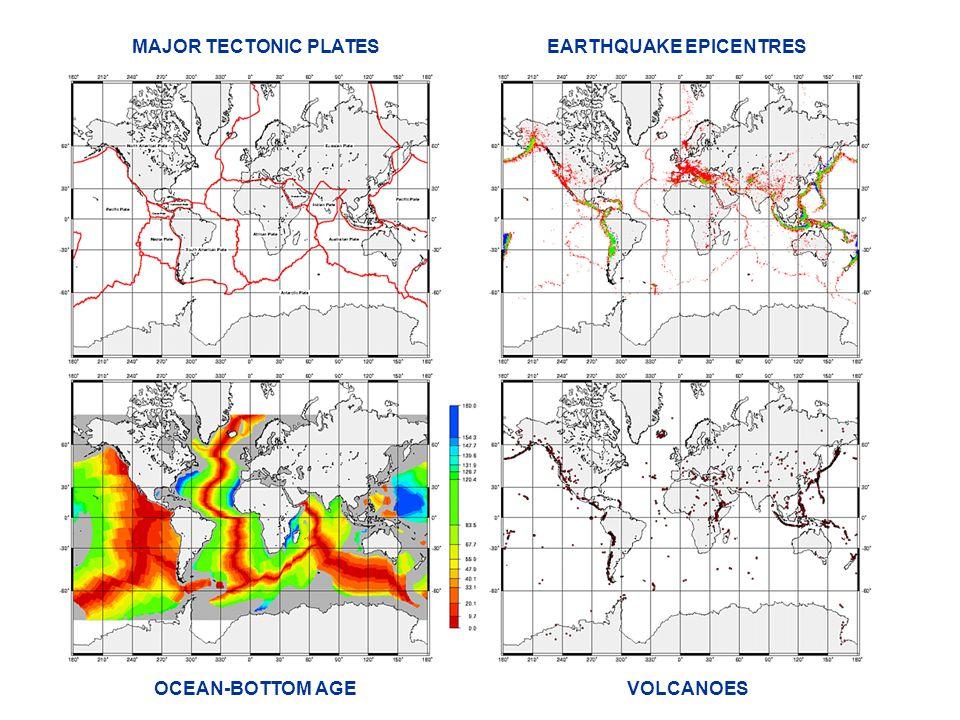 MAJOR TECTONIC PLATES EARTHQUAKE EPICENTRES