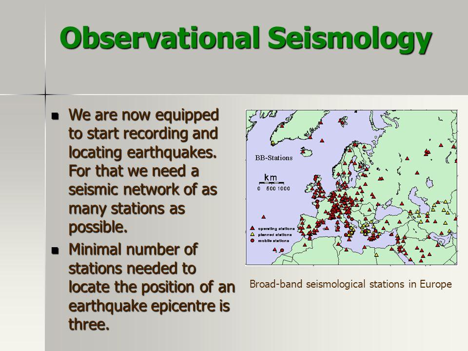 Observational Seismology