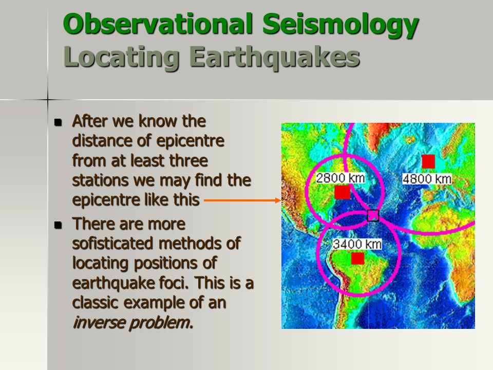 Observational Seismology Locating Earthquakes