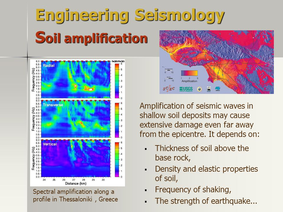 Engineering Seismology Soil amplification