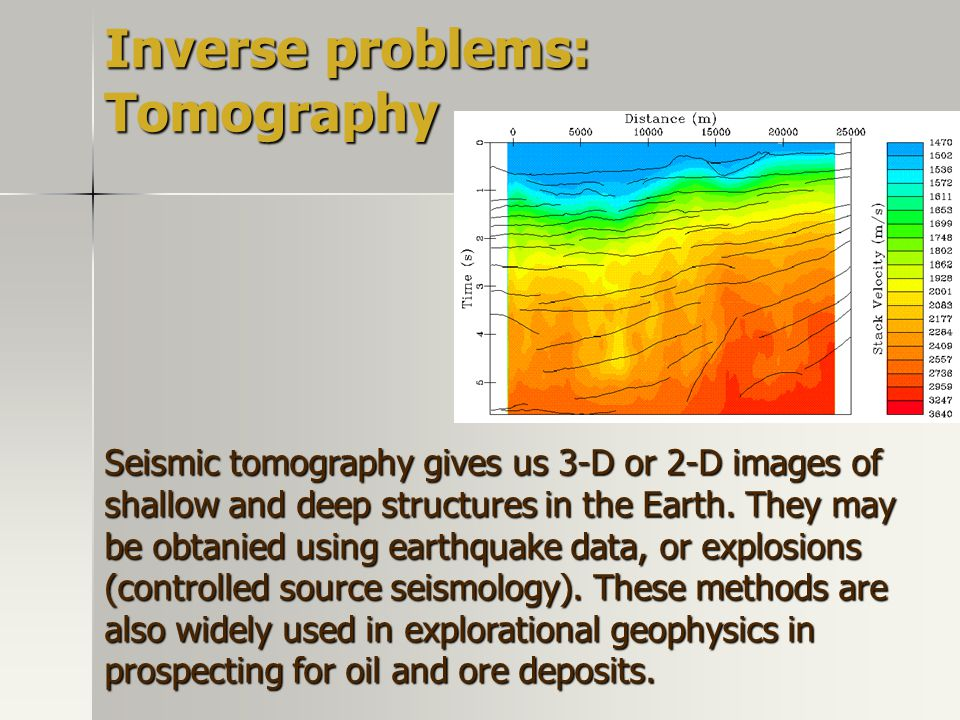 Inverse problems: Tomography