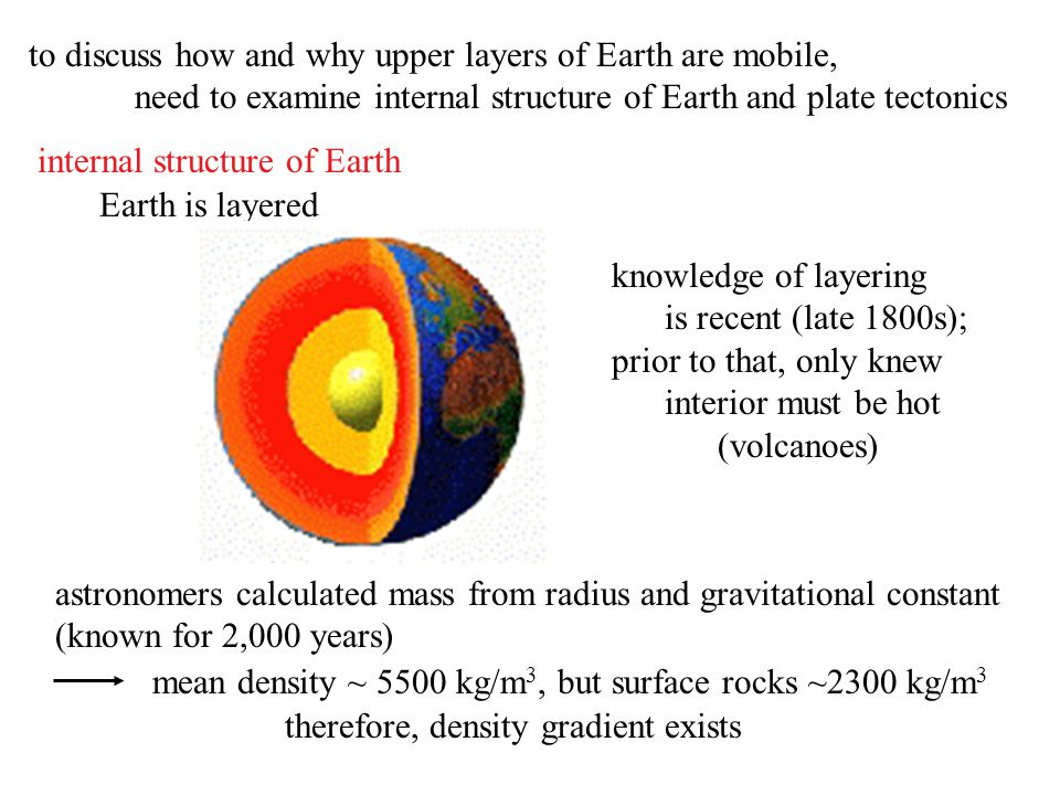 to discuss how and why upper layers of Earth are mobile,