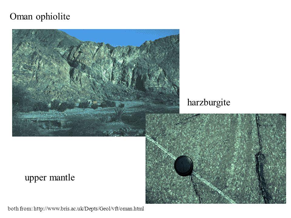 Oman ophiolite harzburgite upper mantle