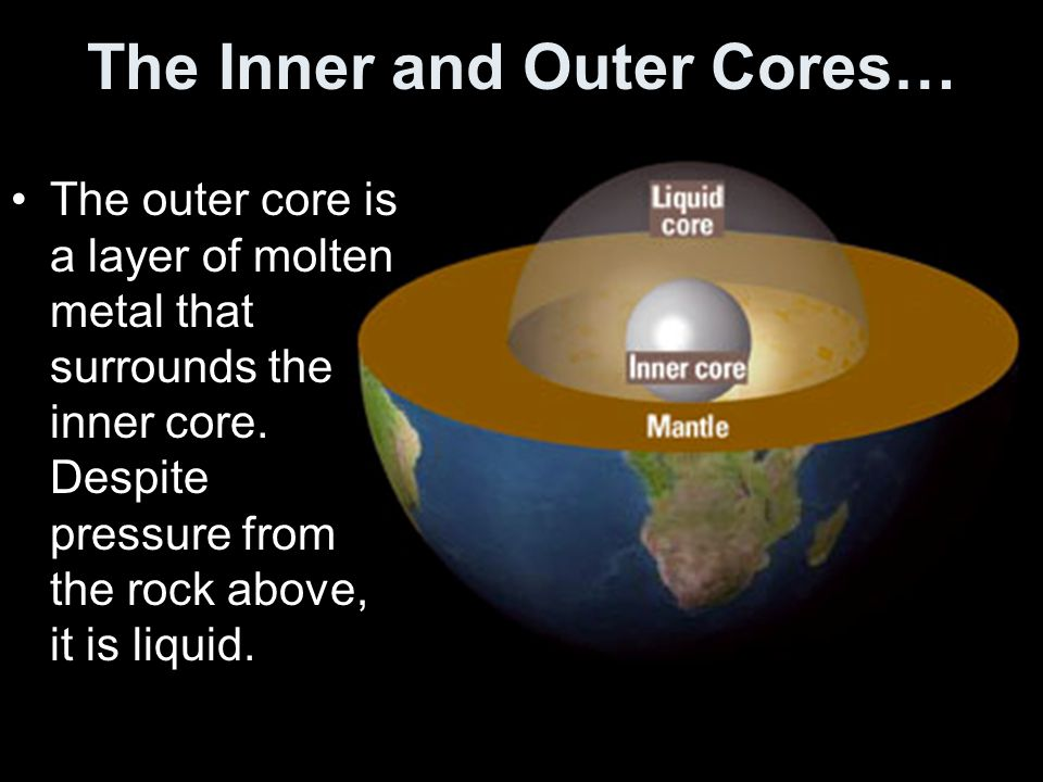 The Inner and Outer Cores…