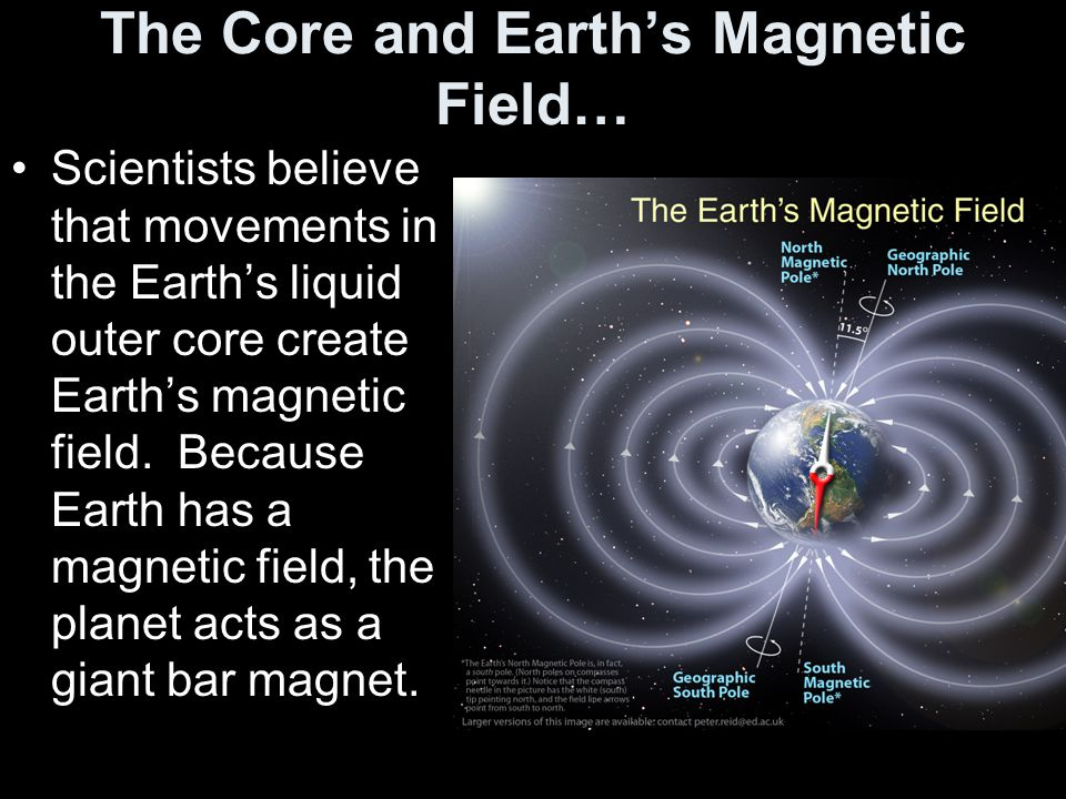 The Core and Earth's Magnetic Field…