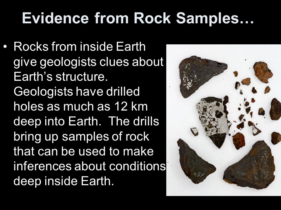 Evidence from Rock Samples…