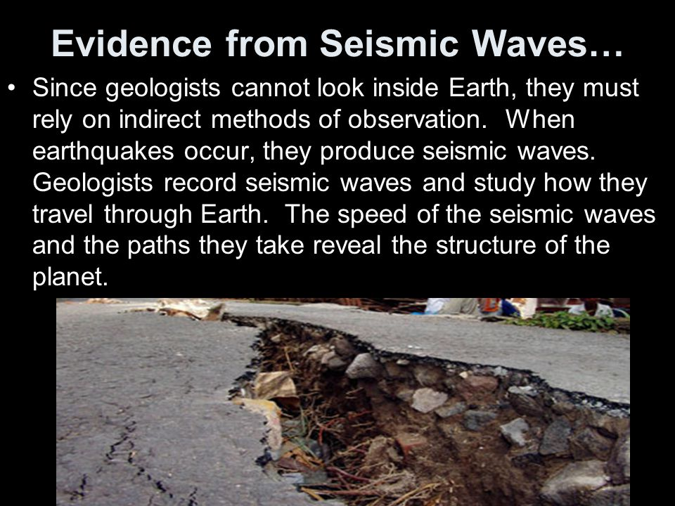 Evidence from Seismic Waves…