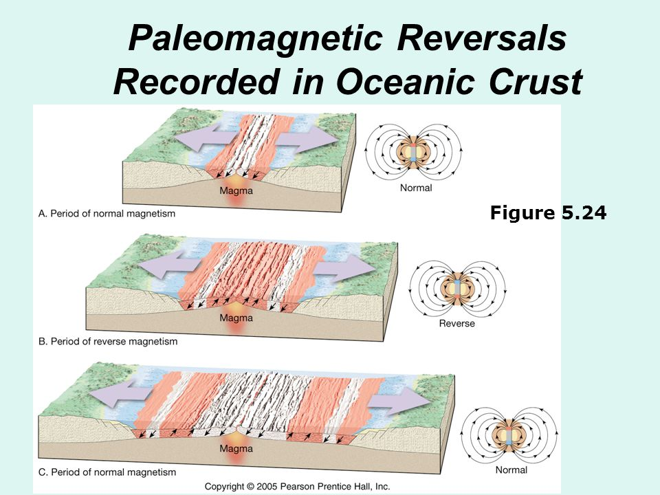 Paleomagnetic Reversals Recorded in Oceanic Crust