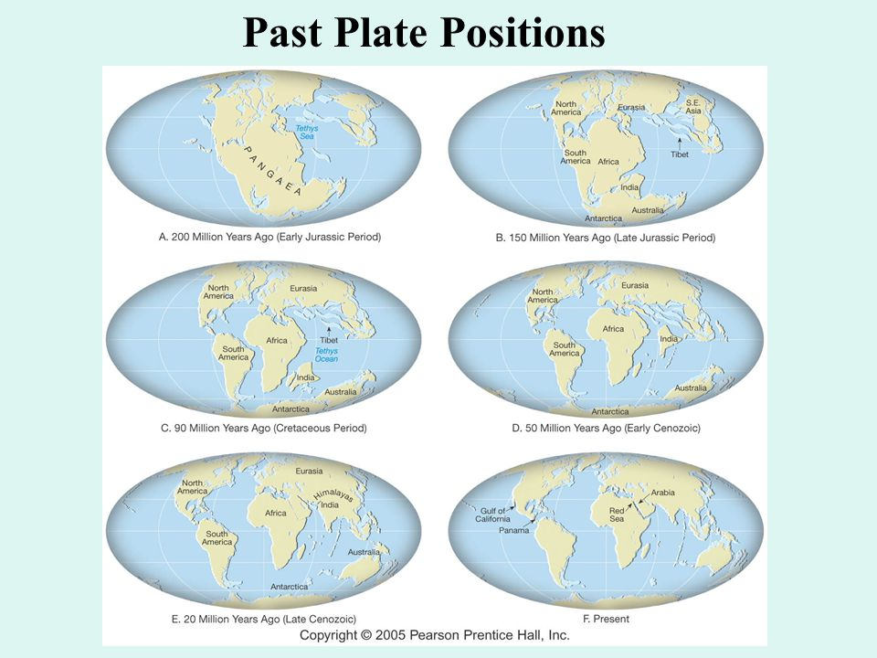 Past Plate Positions