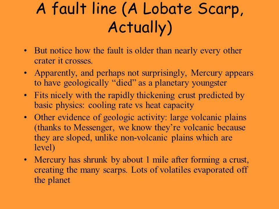 A fault line (A Lobate Scarp, Actually)