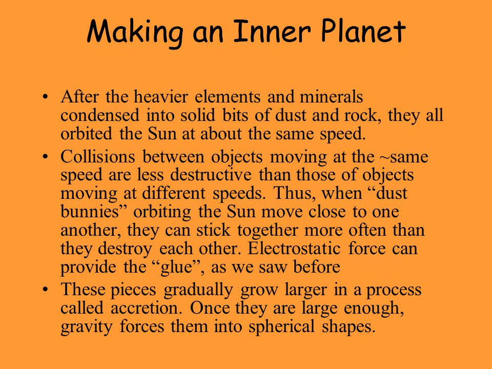 Making an Inner Planet