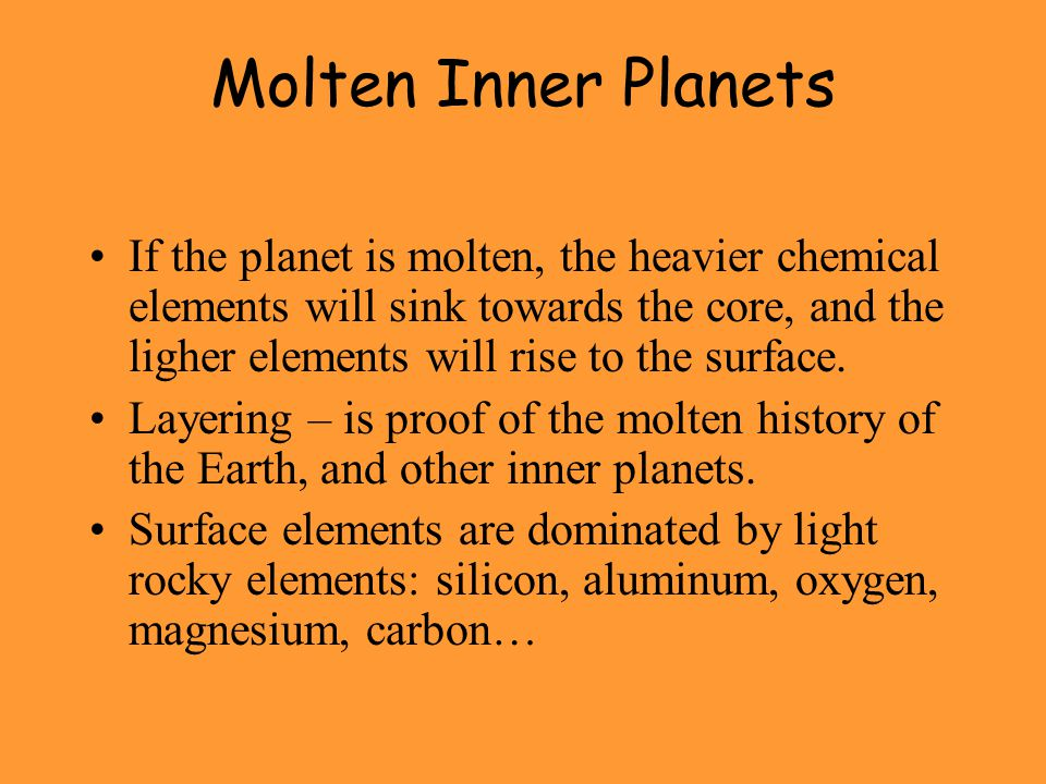 Molten Inner Planets