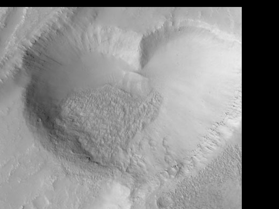 Mars heart-shaped crater
