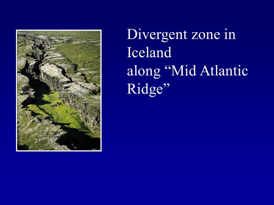 Divergent zone in Iceland