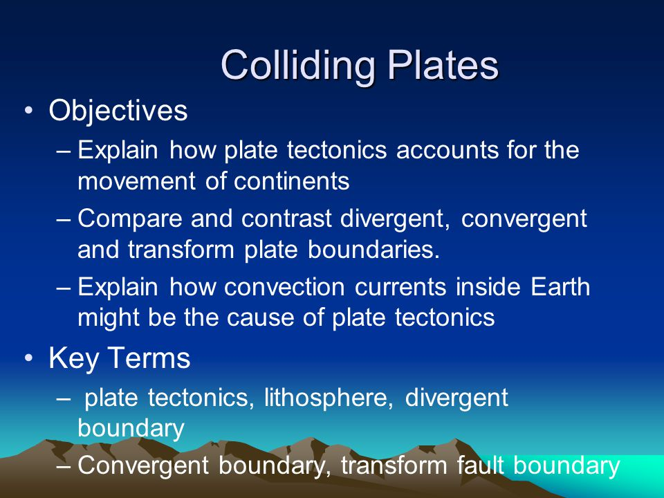 Divergent and convergent plate margins comparison