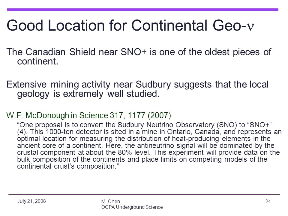 Good Location for Continental Geo-n