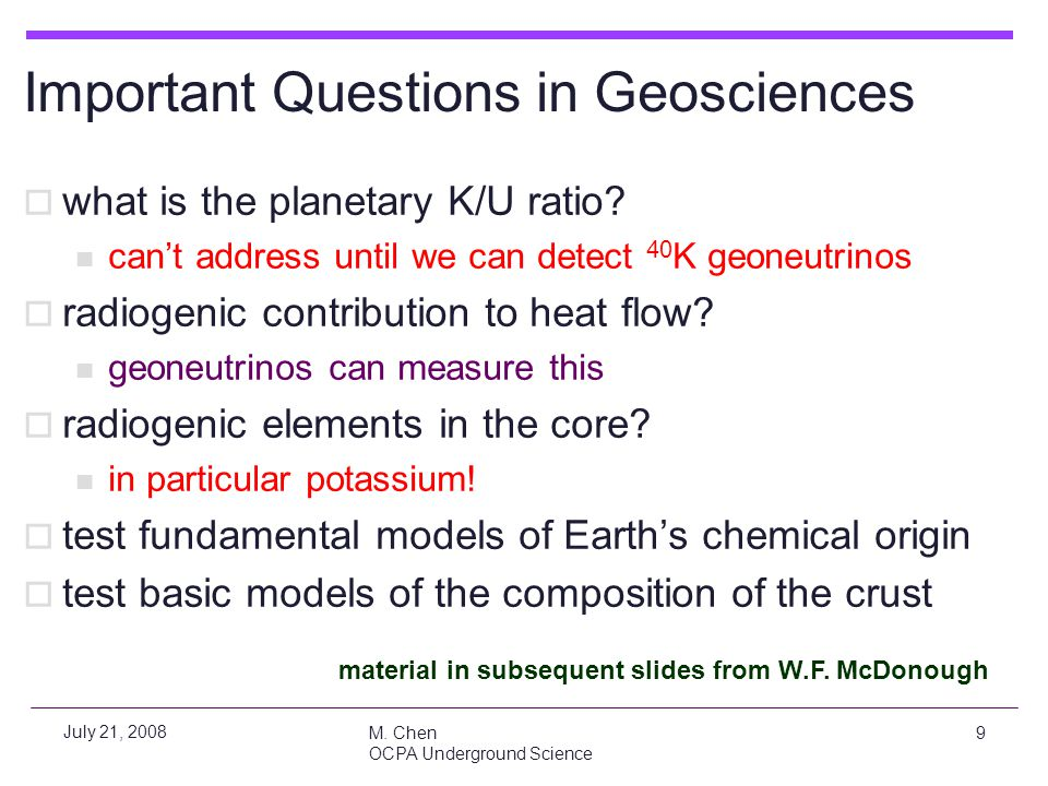 Important Questions in Geosciences