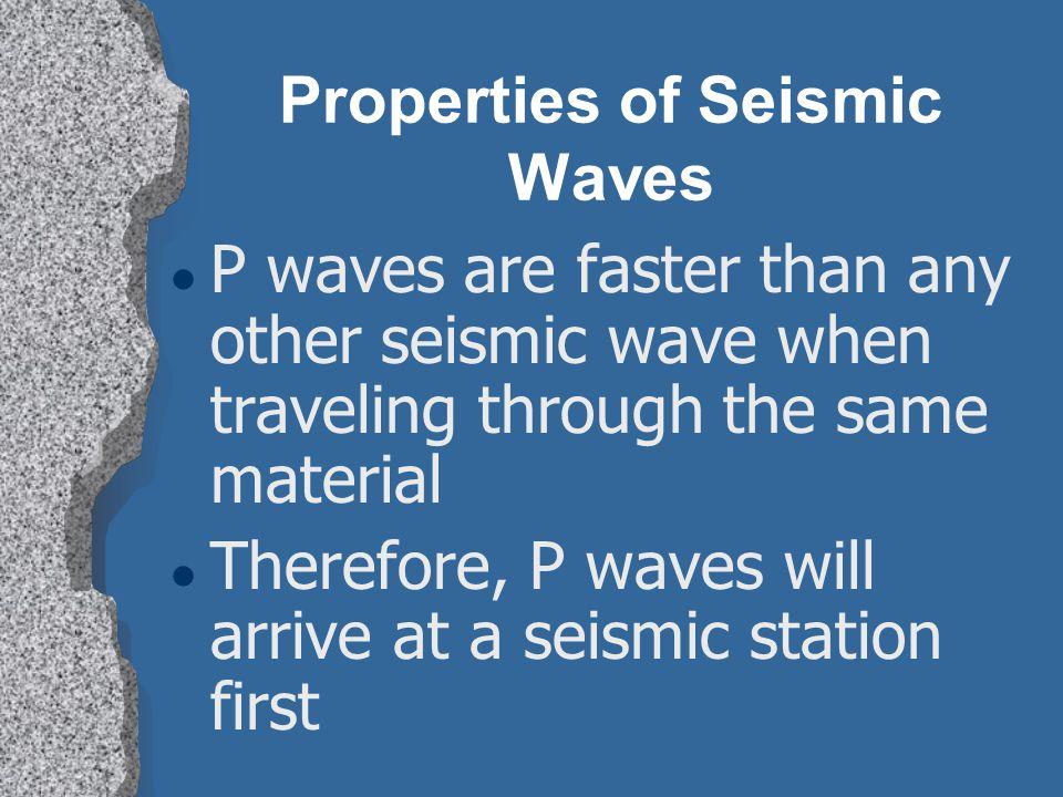 Properties of Seismic Waves