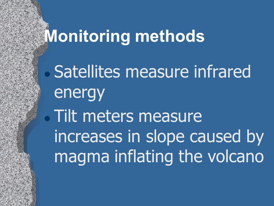 Monitoring methods Satellites measure infrared energy.