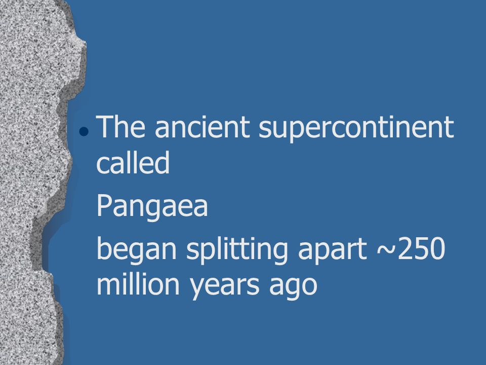 The ancient supercontinent called