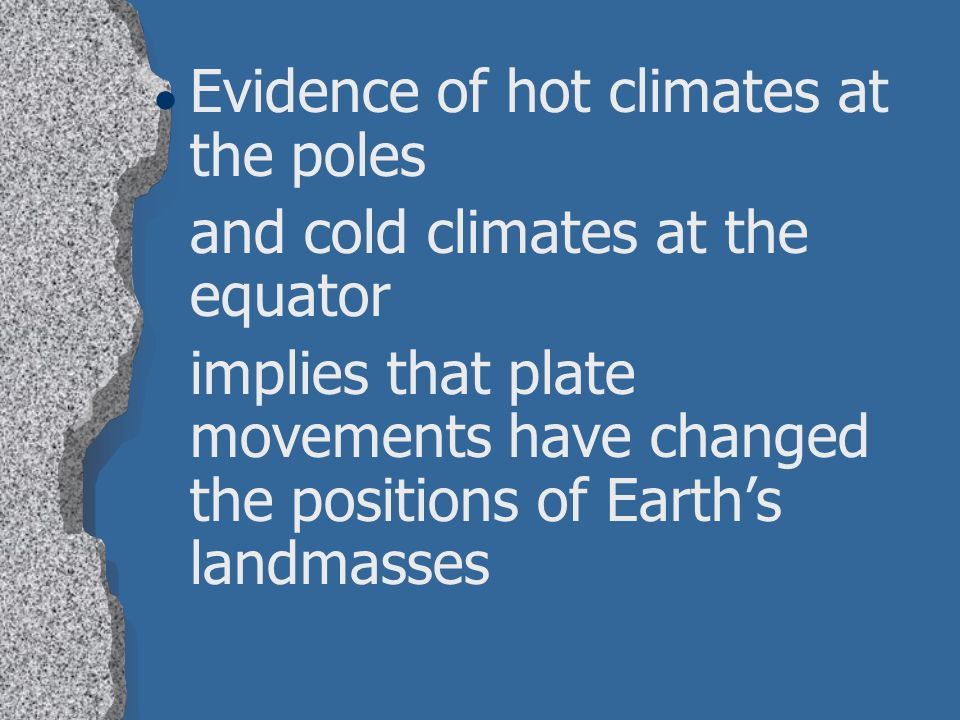 Evidence of hot climates at the poles