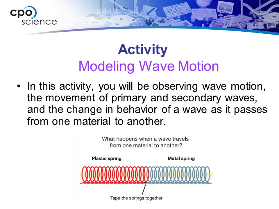 Activity Modeling Wave Motion