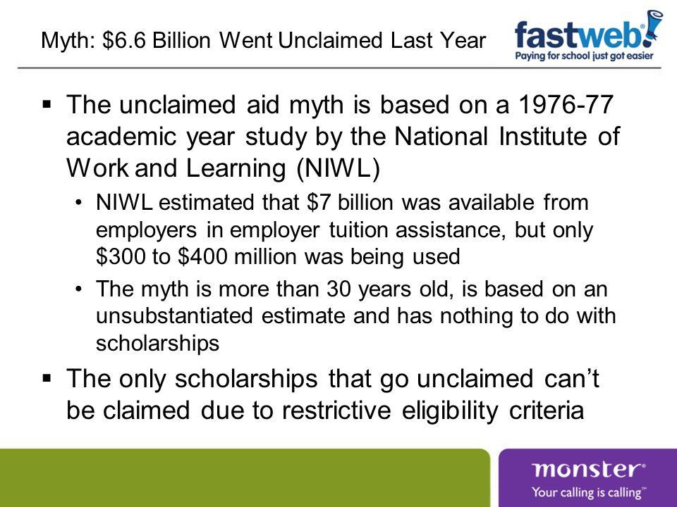 Myth: $6.6 Billion Went Unclaimed Last Year
