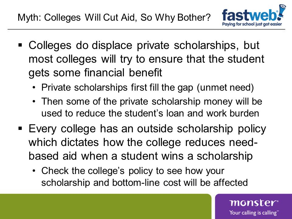 Myth: Colleges Will Cut Aid, So Why Bother