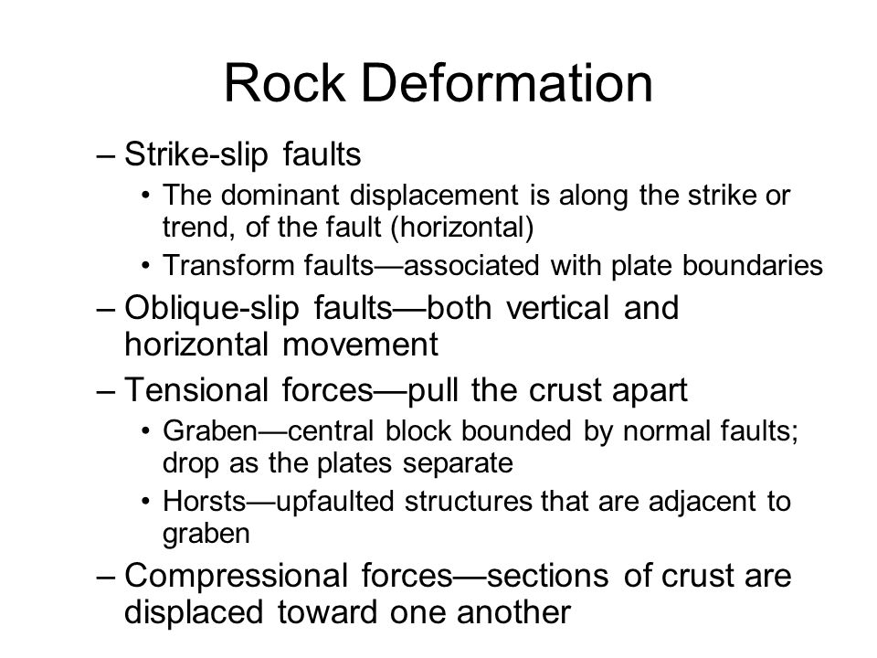 Rock Deformation Strike-slip faults