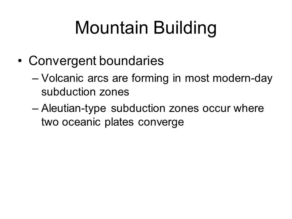 Mountain Building Convergent boundaries